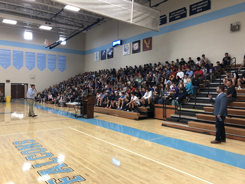 "Grades 7-12 assembly on the ""Power of Social Media"""