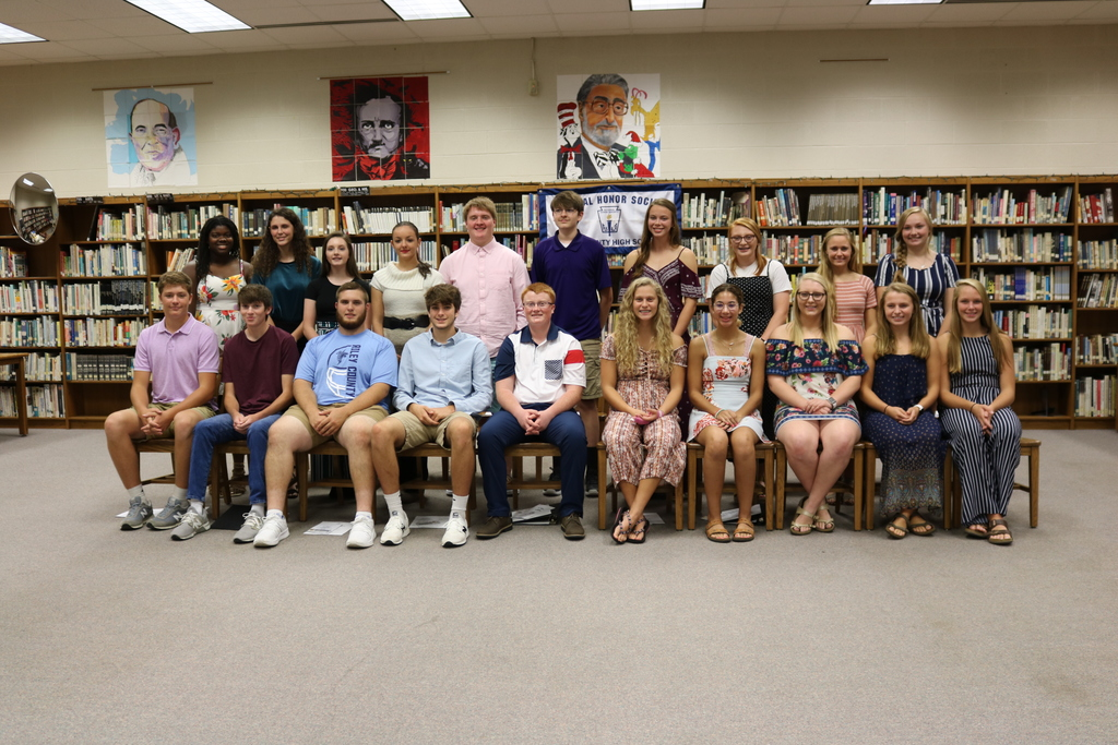 On Tuesday, September 17, the RCHS chapter of the National Honor Society (NHS) inducted 20 senior and junior students as NHS members for the 2019-20 school year.  Shown in the membership picture are (front row, L-R) Garrett Harmison, Ian Uphoff, Kameron Brown, Adam Dennis, Caleb Williams, Lauren Hazlett, Mariah Stewart, Kylea Ricketts, Sarah Thomson, Jessi Brummett (back row, L-R) Ames Burton, Macy Sabo, Lily Lagerman, Jessi Winter, Ethan Bohnenblust, Ryan Pierce, Ashtyn Kulp, Paige Williams, Jessa Kulp and Payton Baker.