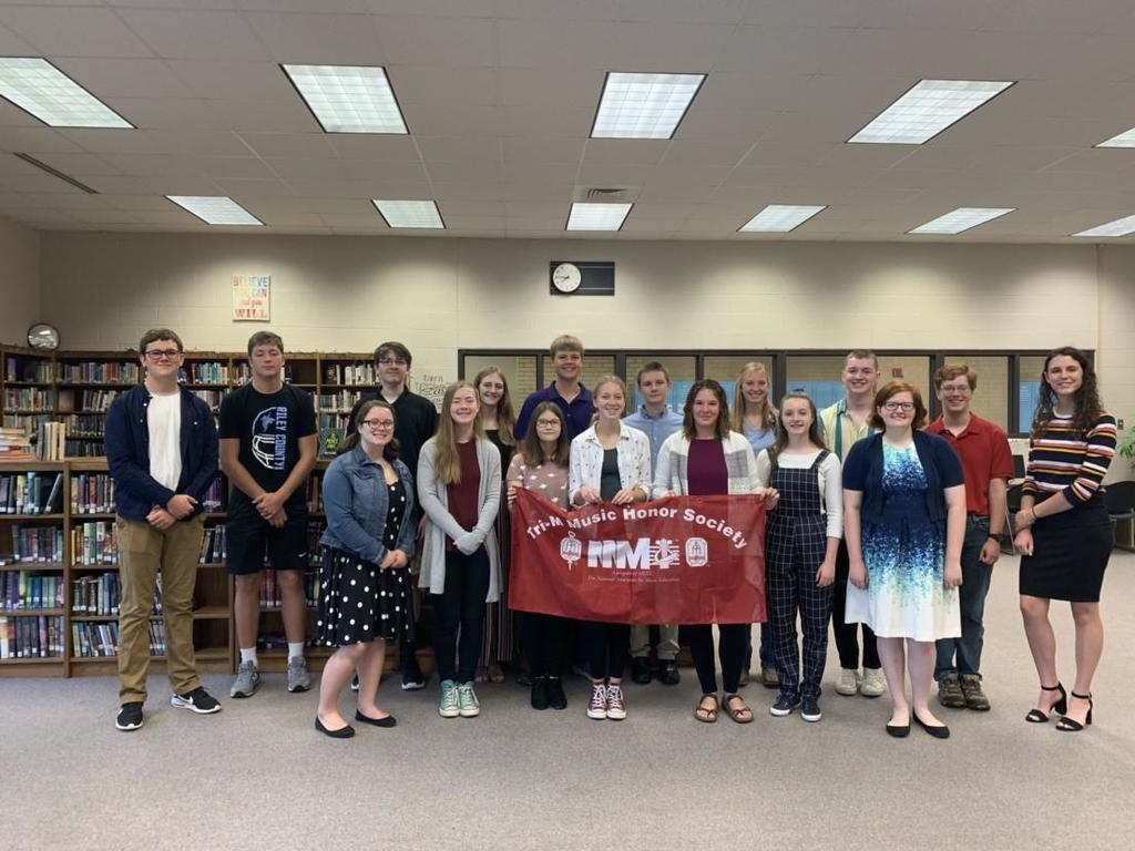 The Tri-M, Modern Music Masters, Riley County Chapter 4602 inducted 11 new members on Thursday, September 19th. New Members are: Ryan Pierce, BreAnn Miesern, Ryan McClure, Camden Foltz, Hailey Sharp, Kaden Williams, Brandon Moots, Ashlee Wilkinson, Jessica Mensch, Clara Liseli, and Samantha Melson. Returning members are: Peyton Smith, Karah Barker, Lily Lagerman, Macy Sabo, Olivia Headley, Garrett Harmison, Hutton Collins, and Hunter Wise.