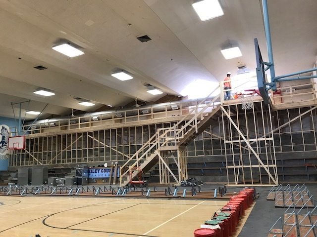 HS South Gym Duct work